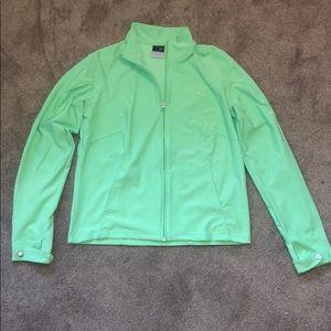 Nike Lime Dri-fit Zip-Up Jacket